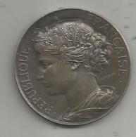 Médaille , REPUBLIQUE FRANCAISE , Poinçon Argent , A. BERTRAND , 2 Scans , Frais Fr 2.25 E - Other