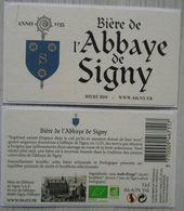 Etiquette  Biere De L'Abbaye De Signy  Ardennes 08  33cl  Bière Bio  Signy L'Abbaye - Beer