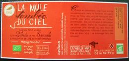 Etiquette  Biere  La Mule Tombée Du Ciel Sur Son Petit Nuage - Beer