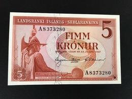 ICELAND P37A 5 KONUR 21.06.1957 UNC - Islande