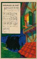 """Chromo : Chicorée Tigre, Chanson """"Chevalier Du Guet"""", Jh. Lervilles, Fabricant à Bouchain (Nord) 2 Scans - Unclassified"""
