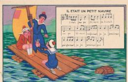 """Chromo : Chicorée Tigre, Chanson """"Il était Un Petit Navire"""", Jh. Lervilles, Fabricant à Bouchain (Nord) 2 Scans - Unclassified"""