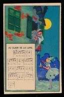 """Chromo : Chicorée Tigre, Chanson """"Au Clair De La Lune"""", Jh. Lervilles, Fabricant à Bouchain (Nord) 2 Scans - Unclassified"""
