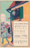 """Chromo : Chicorée Tigre, Chanson """"C'est La Mère Michel"""", Jh. Lervilles, Fabricant à Bouchain (Nord) 2 Scans - Unclassified"""