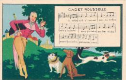 """Chromo : Chicorée Tigre, Chanson """"Cadet Rousselle"""", Jh. Lervilles, Fabricant à Bouchain (Nord) 2 Scans - Unclassified"""