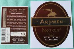 Etiquette  Biere  ARDWEN  HOP'S CURE  75cl  Bière Triple Des Ardennes - Beer