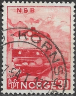 NORWAY 1954 Centenary Of Norwegian Railways - 30ore Diesel-hydraulic Express Train FU - Used Stamps