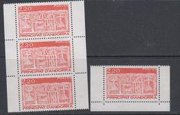Andorra Fr. 1987 Definitives 4v From Booklet ** Mnh (40657D) - Frans-Andorra
