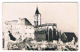 CPA : AMIENS Eglise St Germain Et Le Marché De Lanselles - Ruines De Guerre - Amiens