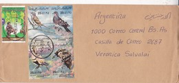 ENVELOPE CIRCULEE CIRCA 2002 LIBYA TO ARGENTINE STAMP BLOCK- BLEUP - Libië