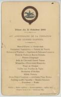 Dîner Pantagruélique Avec Caviar Société Des Steeple Chases De France . Hippisme . 25e Ann. Des Courses D'Auteuil 1898 . - Menus