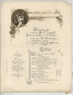 Dîner 1888 . Ministre Du Commerce Et De L'Industrie Pierre Legrand (Lille).  Exposition Universelle De Barcelone . - Menus