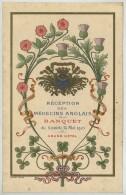Carte Gaufrée Pour La Réception Des Médecins Anglais . Banquet Du 13 Mai 1905 . Grand Hôtel . Graveur Devambez Paris . - Menus
