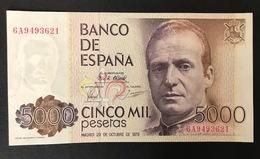 SPAIN P160 5000 PESETAS 23.10.1979 UNC - [ 4] 1975-… : Juan Carlos I