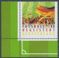 !a! GERMANY 2012 Mi. 2930 MNH SINGLE From Lower Left Corner -Germany Is Getting Into Soccer - Ungebraucht
