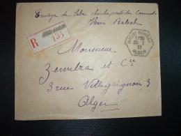 LR TP L'AMIRAUTE 50c Paire + TP COLOMB BECHAR 75c OBL. HEXAGONALE Tiretée 20-12 37 HASSI BAHBAR ALGER - Storia Postale