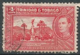 Trinidad & Tobago. 1938-44 KGVI. 4c Red Used. SG 249a - Trinidad & Tobago (...-1961)