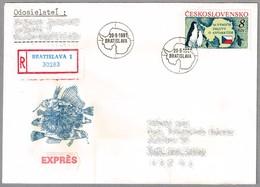 30 AÑOS DEL TRATADO ANTARTICO - 30 Years Of Antarctic Treaty. SPD/FDC Bratislava 1991 - Eventos Y Conmemoraciones