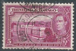 Trinidad & Tobago. 1938-44 KGVI. 5c Used. SG 249b - Trinidad & Tobago (...-1961)
