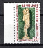 CENTRAFRIQUE N° 67  NEUF SANS CHARNIERE COTE 1.00€  FESTIVAL DES ARTS NEGRES - Centrafricaine (République)