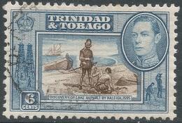 Trinidad & Tobago. 1938-44 KGVI. 6c Used. SG 250 - Trinidad & Tobago (...-1961)