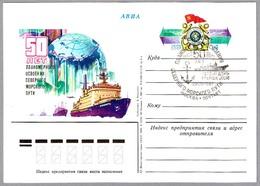 50 AÑOS RUTA DEL MAR DEL NORTE - ROMPEHIELOS NUCLEAR SIBIR. Moscu 1982 - Barcos Polares Y Rompehielos