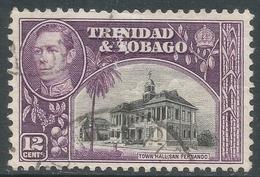 Trinidad & Tobago. 1938-44 KGVI. 12c Used. SG 252a - Trinidad & Tobago (...-1961)