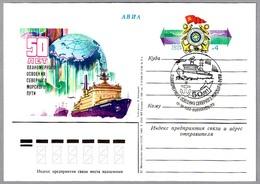 50 AÑOS RUTA DEL MAR DEL NORTE - ROMPEHIELOS NUCLEAR SIBIR. Murmansk 1982 - Barcos Polares Y Rompehielos