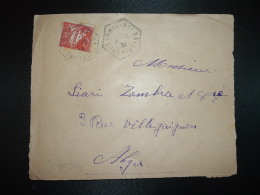 DEVANT TP 50 OBL. HEXAGONALE Tiretée 1-2 31 IGHIL-ALI CONSTANTINE - Lettres & Documents