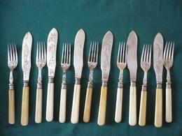 Fischbesteck - Plated Mit Beingriff, älter (640) - Silberzeug