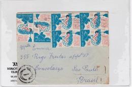 ENVELOPE CIRCULEE CIRCA 1960's UNITED ARAB REPUBLIC TO BRASIL MIXED STAMPS AUTRES MARQUES- BLEUP - Postzegels