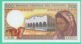 500 Francs -  Comores - 1986 - N° G.05  33931 - Neuf - - Comoros