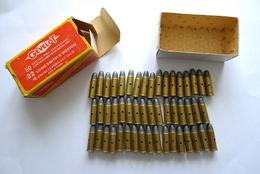 BOITE DE 50 CARTOUCHES .32 LONG SMITH & WESSON GÉVELOT NEUTRALISÉES. - Armes Neutralisées