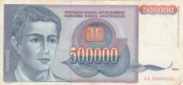 BANCONOTA JUGOSLAVIA 500000 DINARA-VF (Z1501 - Jugoslavia