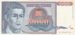 BANCONOTA JUGOSLAVIA 500000 DINARA-VF (Z1502 - Jugoslavia