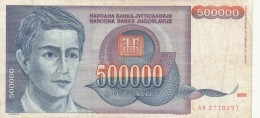 BANCONOTA JUGOSLAVIA 500000 DINARA-VF (Z1503 - Jugoslavia