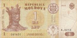 BANCONOTA MOLDOVA 1 LEU VF (Z1521 - Moldavia