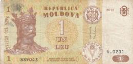 BANCONOTA MOLDOVA 1 LEU VF (Z1522 - Moldavia