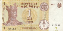 BANCONOTA MOLDOVA 1 LEU VF (Z1523 - Moldavia