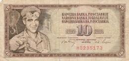 BANCONOTA JUGOSLAVIA 10 DINARA-VF (Z1529 - Jugoslavia