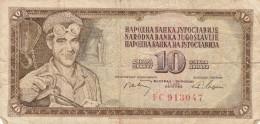 BANCONOTA JUGOSLAVIA 10 DINARA-VF (Z1533 - Jugoslavia