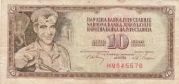 BANCONOTA JUGOSLAVIA 10 DINARA-VF (Z1541 - Jugoslavia