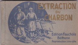 Cpa CARNET 6 Cpa EXTRACTION DU CHARBON EDITION FAUCHOIS BETHUNE - Bergbau