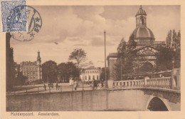 CARTOLINA PRIMI 900 MUIDERPOORT AMSTERDAM (Z1572 - Periodo 1891 – 1948 (Wilhelmina)