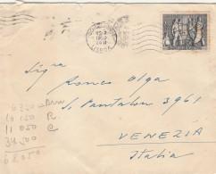 LETTERA 1952 DA PORTOGALLO PER ITALIA TIMBRO LISBOA-VENEZIA (Z1576 - 1910 - ... Repubblica