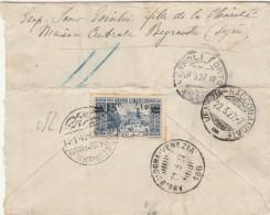 RACCOMANDATA 1927 DA LIBANO PER VENEZIA TIMBRO AMBULANTE BOLOGNA VENEZIA-BEIRUT (Z1577 - Libano