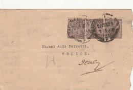 LETTERA DA INDIA PER ITALIA 1926 TIMBRO ARRIVO (Z1579 - India