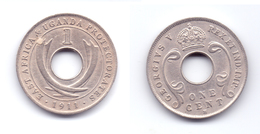 East Africa & Uganda Protectorates 1 Cent 1911 H - Africa Orientale E Protettorato D'Uganda
