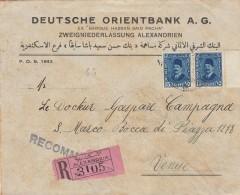 RACCOMANDATA ANNI 30 DA EGITTO-ALESSANDRIA PER ITALIA  (Z1587 - Egypt
