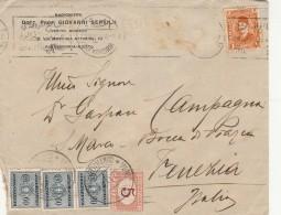 LETTERA 1934 DA EGITTO PER ITALIA CON 3X60+5 SEGNATASSE -TIMBRO ARRIVO (Z1592 - Egypt